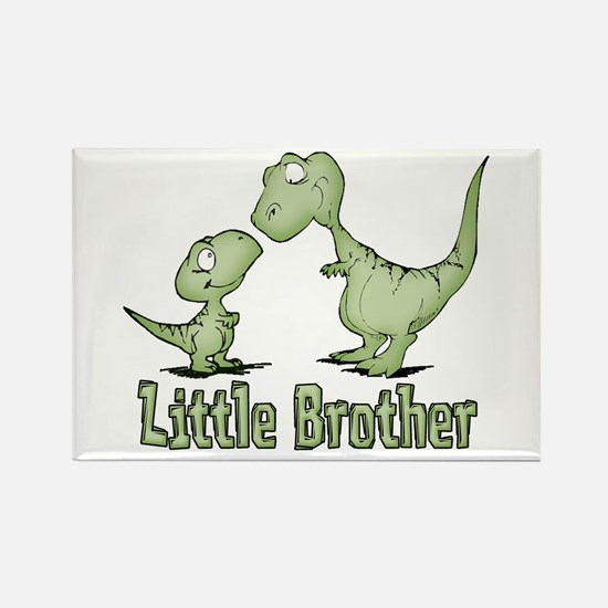 Dinosaurs Little Brother Rectangle Magnet