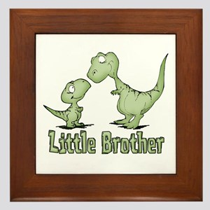 Dinosaurs Little Brother Framed Tile