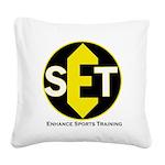 Enhance Sports Training Square Canvas Pillow