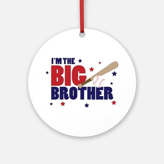 big brother baseball Ornament (Round)