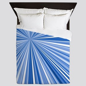 Converging Stripes Blues Queen Duvet