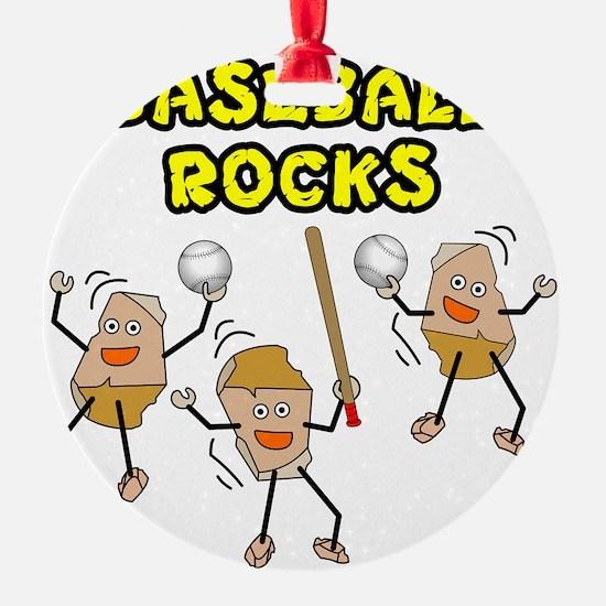Three Baseball Rocks Ornament