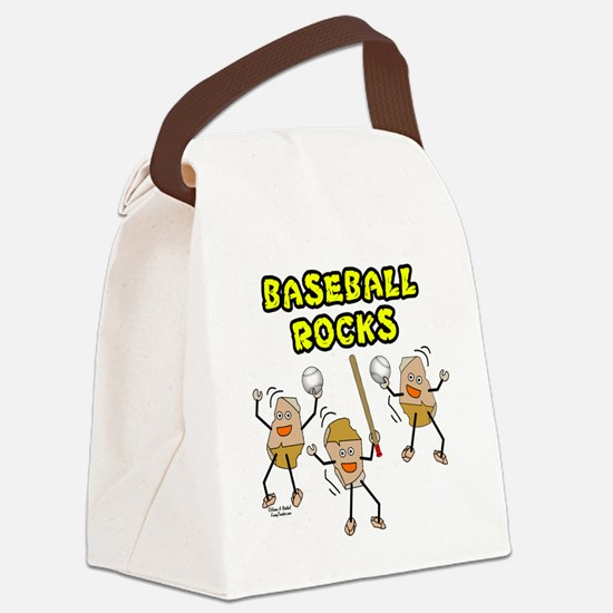 Three Baseball Rocks Canvas Lunch Bag