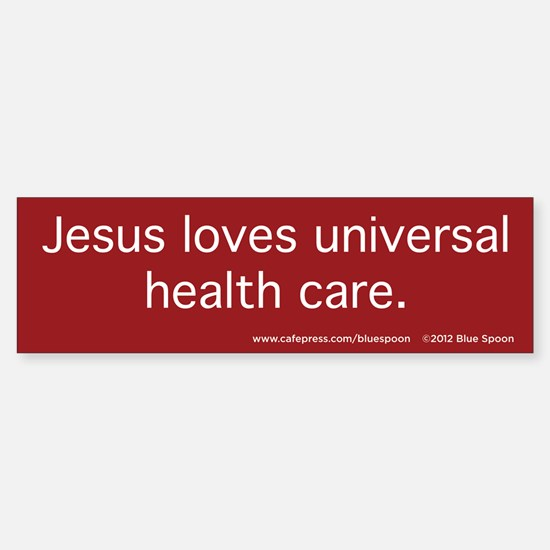 Jesus, Health Care Bumper Sticker (Red)