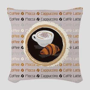 Coffee Woven Throw Pillow