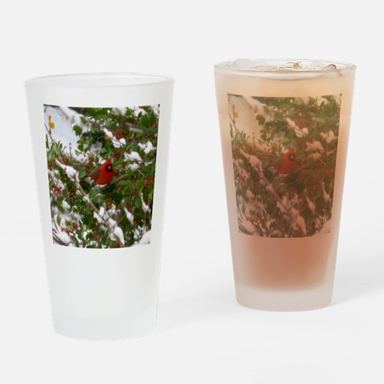 Red Robin  Drinking Glass