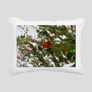 Red Robin  Rectangular Canvas Pillow
