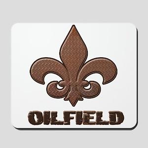 Rusty Diamond Plate Fleur Des Lis Oilfield Mousepa