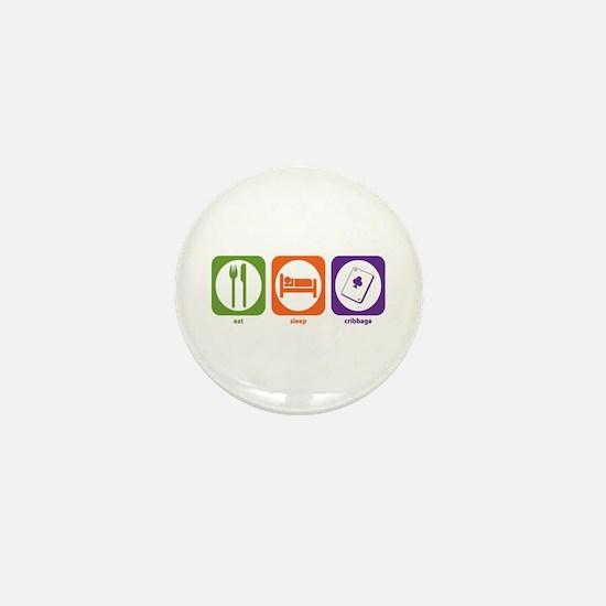 Eat Sleep Cribbage Mini Button