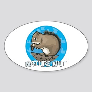 Nature Nut Oval Sticker