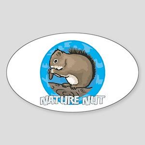 Nature Nut Oval Sticker