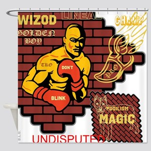 BLO Pro Boxing design Shower Curtain