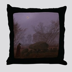 Caspar David Friedrich - A Walk at Du Throw Pillow