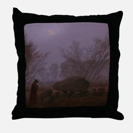 Caspar David Friedrich - A Walk at Du Throw Pillow