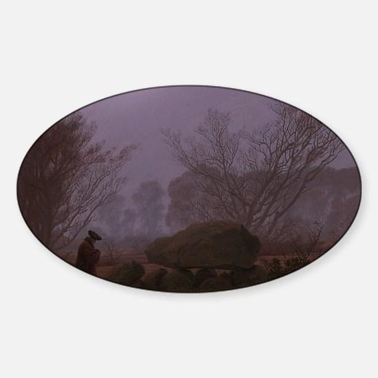 Caspar David Friedrich - A Walk at  Sticker (Oval)