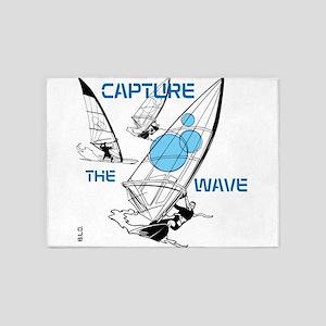 BLO Wind Surfer design 5'x7'Area Rug