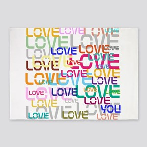 BLO Love design 5'x7'Area Rug
