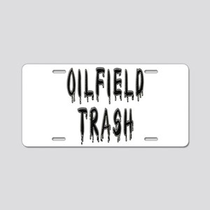 Oilfield Trash Aluminum License Plate