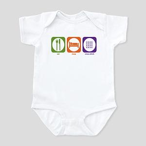Eat Sleep Cross-stitch Infant Bodysuit
