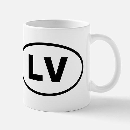 Latvia LV Mugs