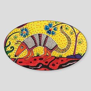 Armadillo Original Art Sticker (Oval)