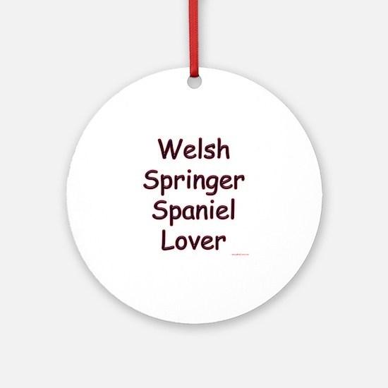 Welsh Springer Lover Ornament (Round)
