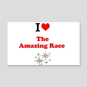 I Love the Amazing Race Rectangle Car Magnet