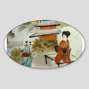 Asian art design Sticker (Oval)