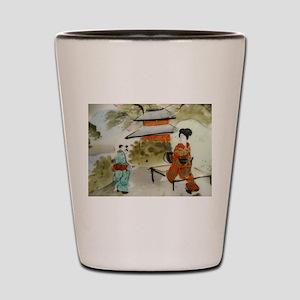 Asian art design Shot Glass