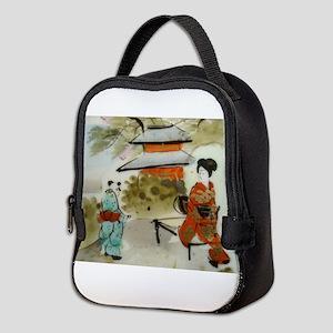 Asian art design Neoprene Lunch Bag