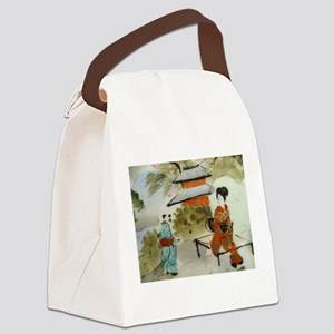 Asian art design Canvas Lunch Bag