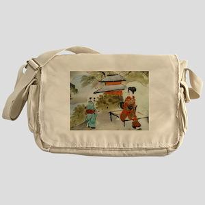 Asian art design Messenger Bag