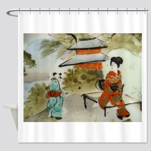Asian art design Shower Curtain