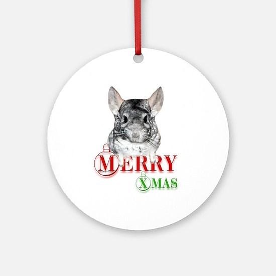 Chin Merry XMas2 Ornament (Round)