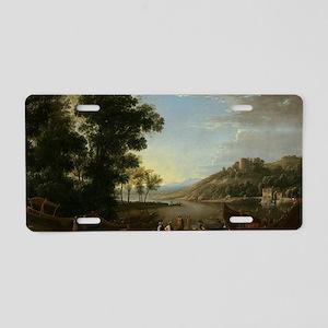 Claude Lorrain - Landscape  Aluminum License Plate