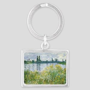 Claude Monet - Banks of the Sei Landscape Keychain