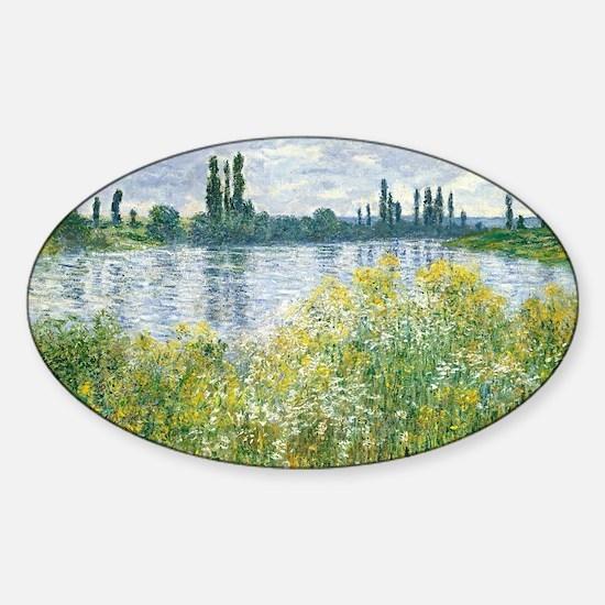 Claude Monet - Banks of the Seine Sticker (Oval)