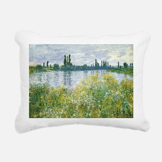 Claude Monet - Banks of  Rectangular Canvas Pillow