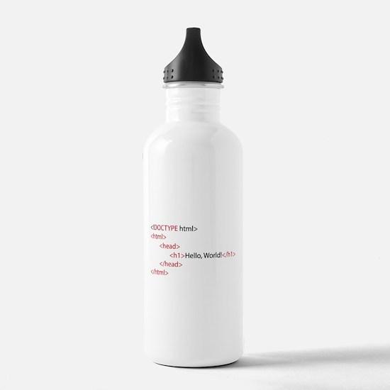 HTML Water Bottle