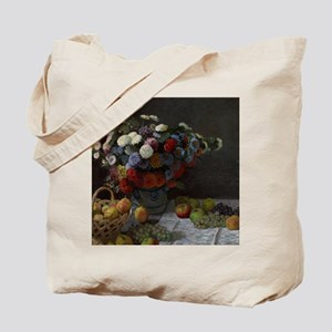 Claude Monet - Still Life with Flowers an Tote Bag