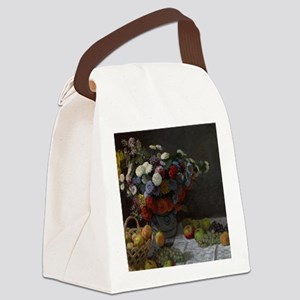 Claude Monet - Still Life with Fl Canvas Lunch Bag