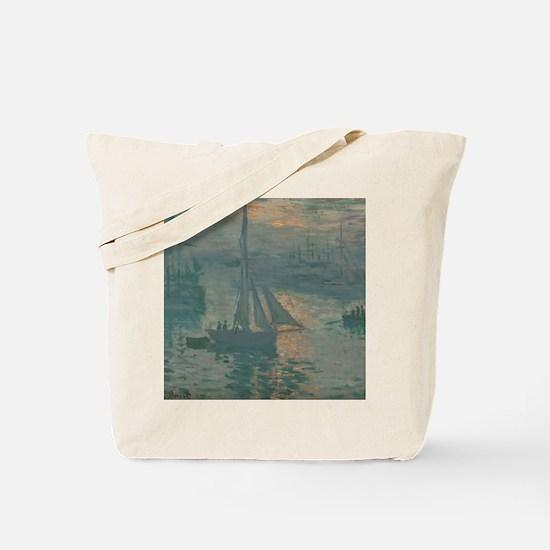 Claude Monet - Sunrise (Marine) Tote Bag