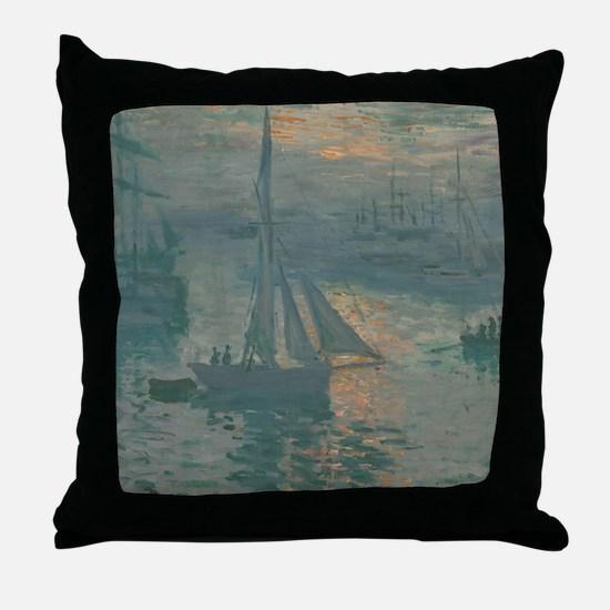 Claude Monet - Sunrise (Marine) Throw Pillow