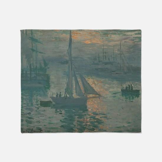 Claude Monet - Sunrise (Marine) Throw Blanket