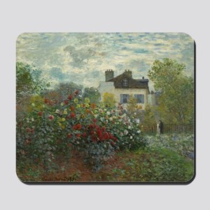 Claude Monet - The Artists Garden in Arg Mousepad
