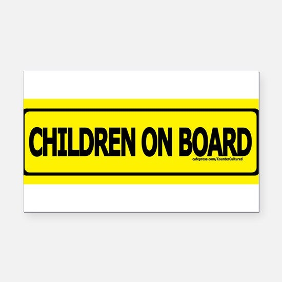 Cute Baby on board Rectangle Car Magnet