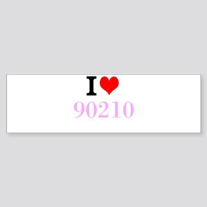 I Love 90210 Bumper Sticker