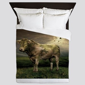 Camo Cow Queen Duvet
