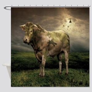 Camo Cow Shower Curtain