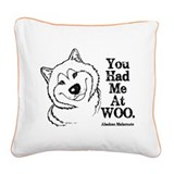 Malamute Square Canvas Pillows